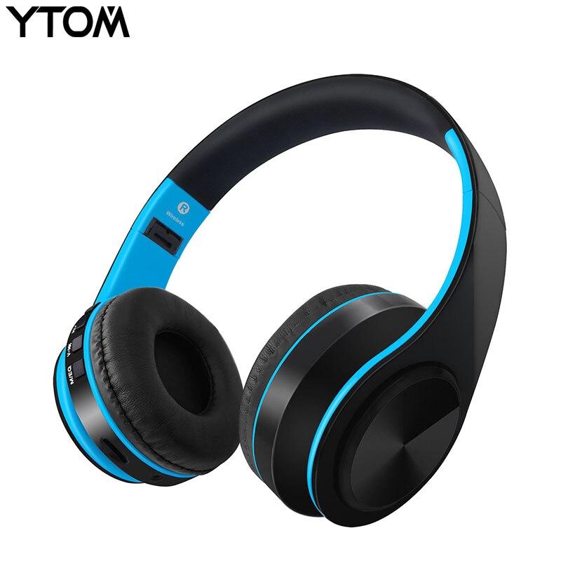 YTOM Bluetooth Casque Écouteur Sans Fil Casque Avec Microphone Basse Basse casque écouteurs Pour ordinateur téléphone sport pc MP3