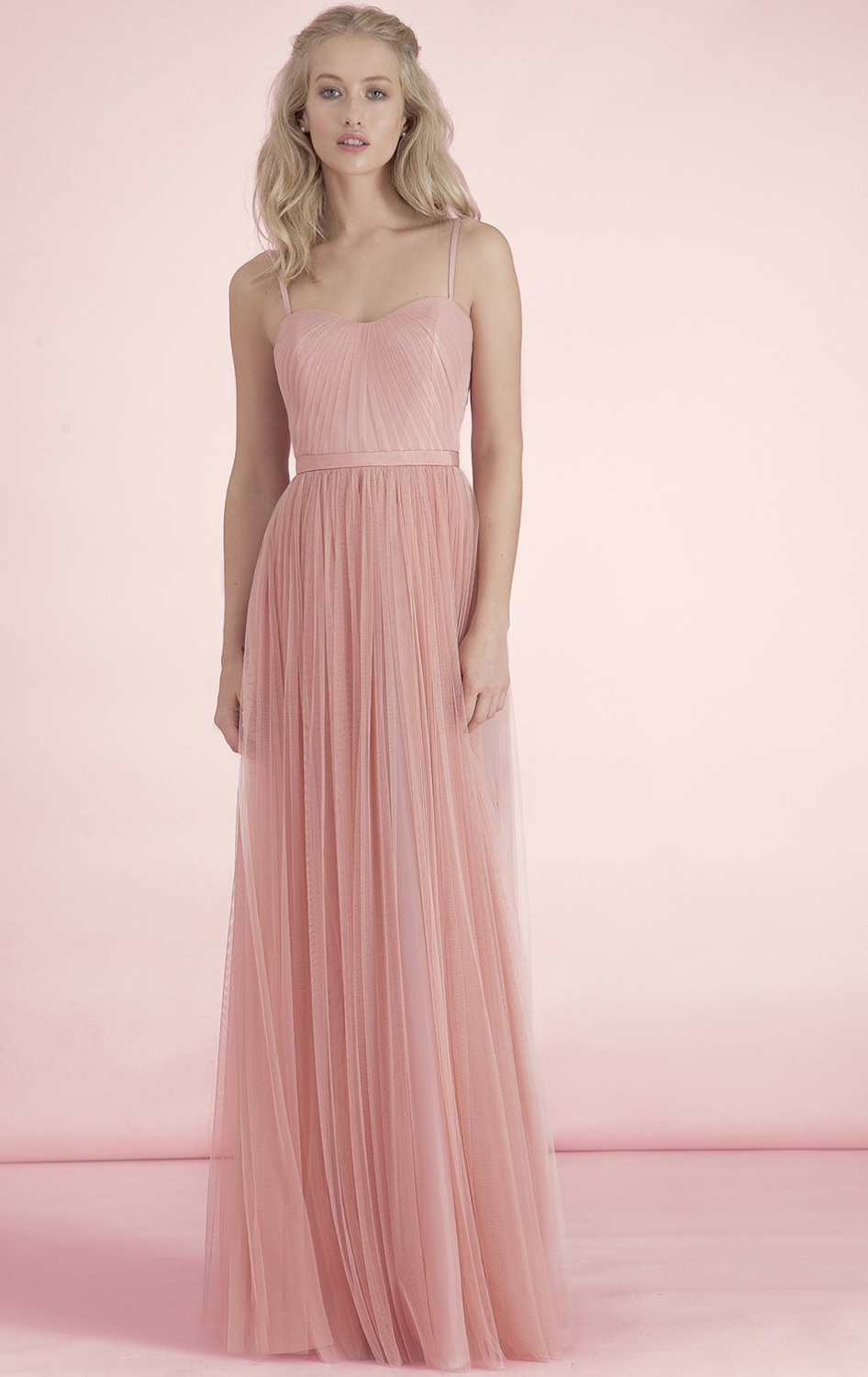 2015 cheap bridesmaid dresses under 50 tulle long nude pink blush 2015 cheap bridesmaid dresses under 50 tulle long nude pink blush bridesmaid dresses wedding party dress maid of honor dress in bridesmaid dresses from ombrellifo Images