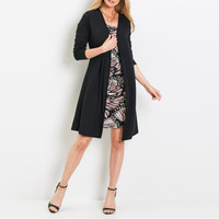 New High Quality Explosions Leisure Vintage Color Matching Office Dresses Women Solid Spring Winter Casual Party
