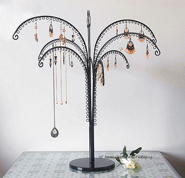 Large Metal Earring Display Tree Jewelry Showing Rack Shelf Necklace Fascinating Large Jewelry Tree Display Stand