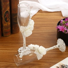 2 шт./компл. Свадебные Стекло es персонализированные Шампанский флейт кристаллический вечерние подарок тостов Стекло Кубок Юбилей