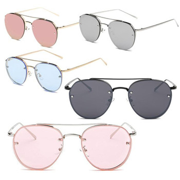 3011#JOGAL  2017 Summer Most Popular Fashion Sunglasses Metal Reflection Mirror Frame From Lens Sunglasses Glasses reflection