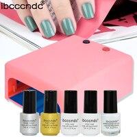 Professionl Manicure Tools 36w UV Lamp+7ml uv gel nail polish top base coat+liquid latex color uv gel acrylic nail polish set
