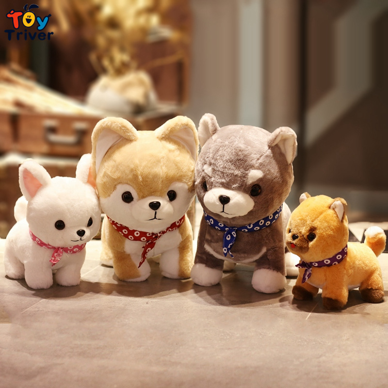 Plush Japan Mameshiba Sankyoudai Loyal Dog Shiba Inu Four Brothers Toy Stuffed Doll baby Kids Birthday Gift Shop Decor Triver qwz1pcs 25cm cute wear scarf shiba inu dog plush toy soft animal stuffed toy smile akita dog doll for lovers kids birthday gift