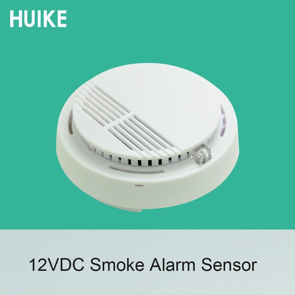 1 PCS Ceiling Smoke Detector DC12V Networking To Alarm System Fire Alarm Sensor NC NO Signal Options