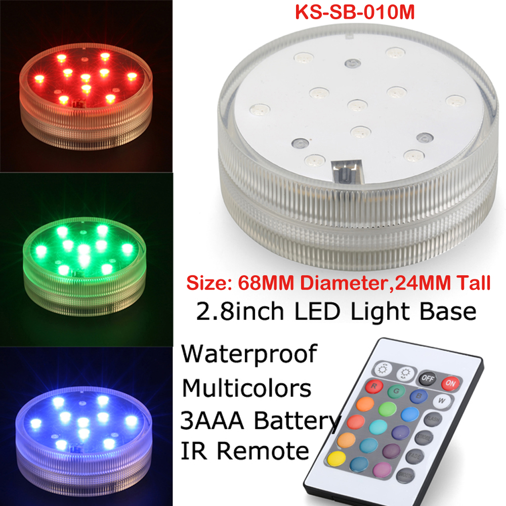 50 Pieces/Lot Battery Operated MultiColors Remote Controller LED Submersible LED Floralyte Lights For Wedding Party Decoration