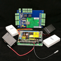 Wiegand TCP IP Two Doors Doubel Door Access Control System Kit 2 PCS Rfid Card Reader