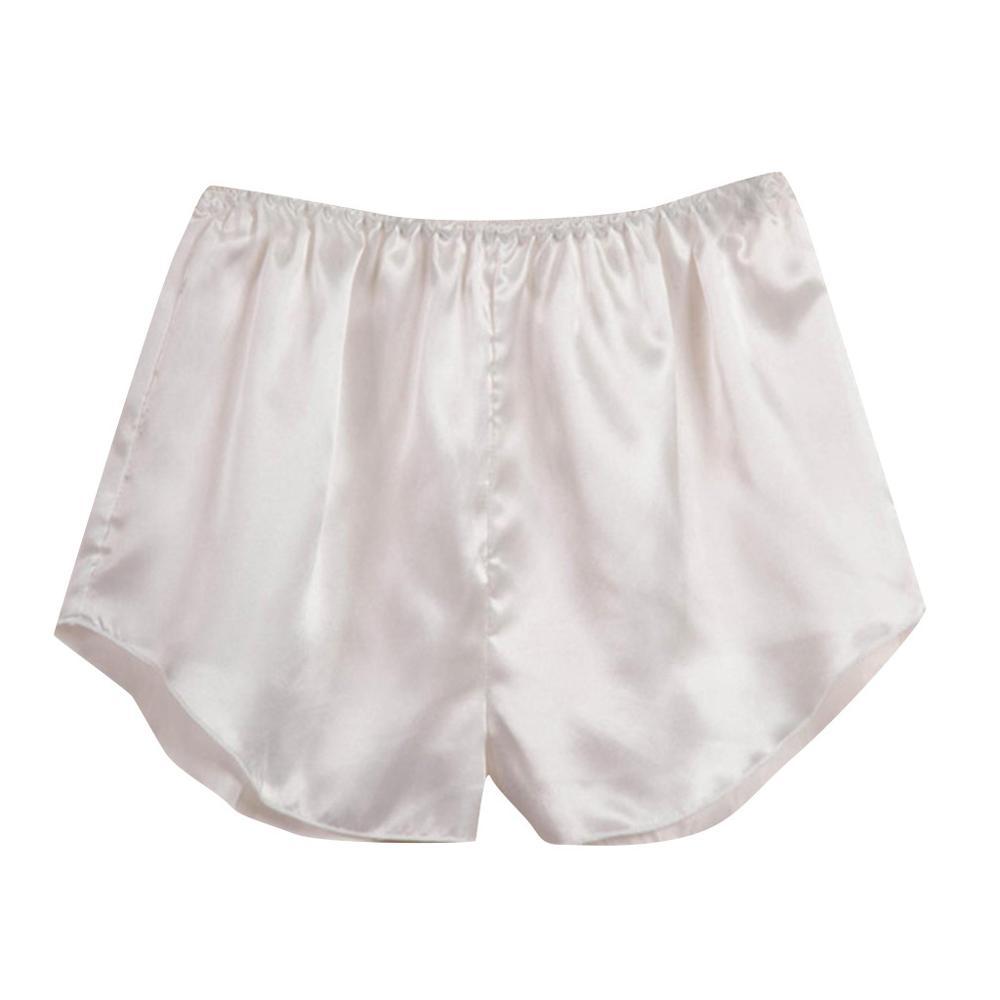 Women Satin home pants sleep shorts solid Sleepwear Lingerie Pajama Pant Fashion lounge wear spodnie damskie black white red