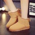 2016 Mulheres Bowtie botas de Inverno Austrália botas botas moda botas de neve de pelúcia sapatos de neve não UG botas tamanho 35-40