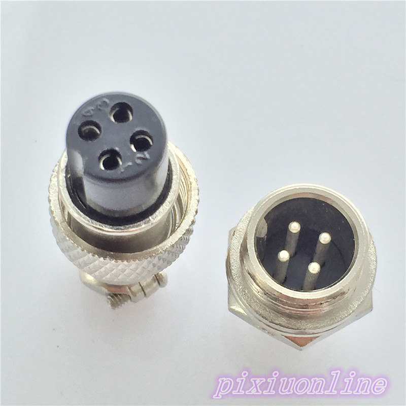 1pcs GX12 4 Pin Male & Female 12mm L90Y Circular Connector Socket Plug Wire Panel  Aviation Plug High Quality On Sale 5set 3pin female panel powercon stage light power plug and socket audio connector plug socket 20a 250v nac3fca with nac3mpa 1
