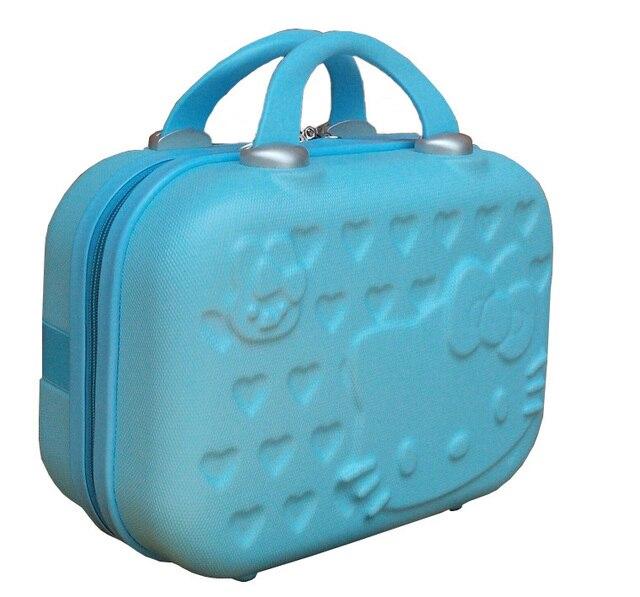 ec39e22dd 14 pulgadas Hellokitty cosméticos casos, neceser, cáscara dura bolsa  vestidor, caja de almacenamiento