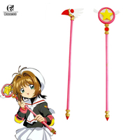 ROLECOS Cardcaptor Sakura Kinomoto Cosplay Magic Wand Stick Cardcaptor Sakura Props Anime Cosplay Accessory Weapon