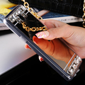 Caso de diamantes de luxo para samsung galaxy s6 s7 edge kisscase a5 A7 A3 J5 J7 2016 Tampa Espelho de Cristal Casos de Telefone Coque Fundas