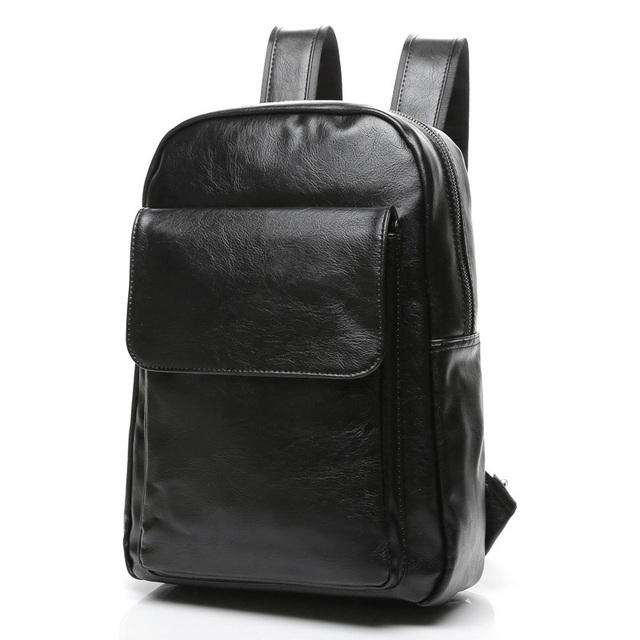 Luxury Brand Leather Backpack Men Shoulder School Bags Black Large Capacity bagpack Male Travel Backpack Laptop Daypacks Mochila