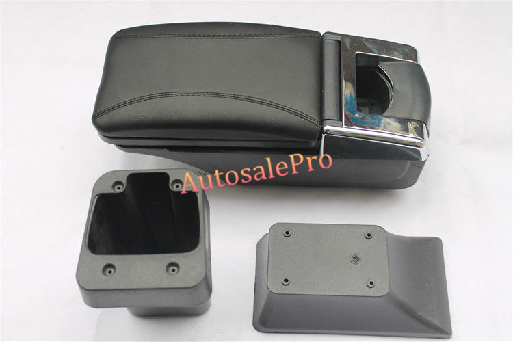 For Honda FIT Jazz 14-15 High Equipped Model Armrest Center Console Storage Box Interior Black leather car center console armrest box for honda fit jazz sedan 2003 2004 2005 2006 armrests storage box free shipping
