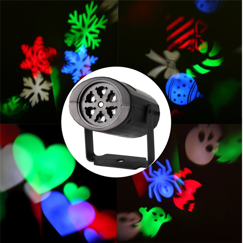 Trecaan 4W Mini led projector spotlight with 4 slides stage light Fairy decoration Indoor/Outdoor Christmas,Party EU/US 85-265V