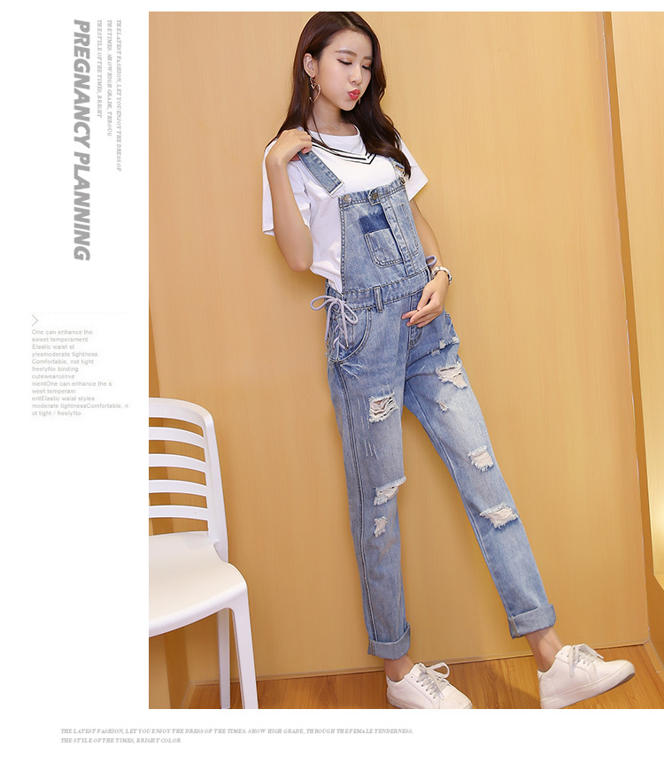 651c9b1c072ff Denim Jeans Maternity Suspender Trousers For Pregnant Women Dungarees  Clothes Prop Belly Pants Pregnancy Clothing Hole Overalls