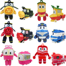 large 16cm Robot Trains Transformation Kay Alf Dynamic Train Family Deformation Car action figure toys toy doll 6pcs/set