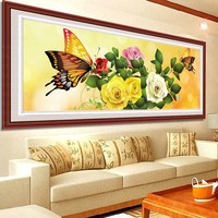 2015 New Ultra HD Diamond Painting Butterfly Flowers DMC 447 Colours Candy Diamond Embroidery DIY Crafts