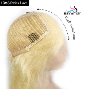 Image 3 - Sunnymay 613 13x4 13x6 Lace Front Wig With Baby Hair Pre Plucked Blonde Wig Remy Hair Glueless Lace Wig Bleached Knots For Women
