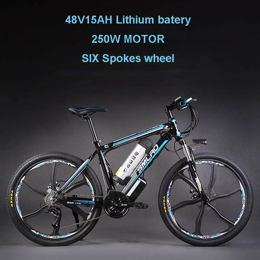 26inch Electric Mountain Bicylce 48Vlithium Battery 500w Motor Smart Lcd Assist Bike Pas Ebike Aluminum Mountain Bike 50km Range
