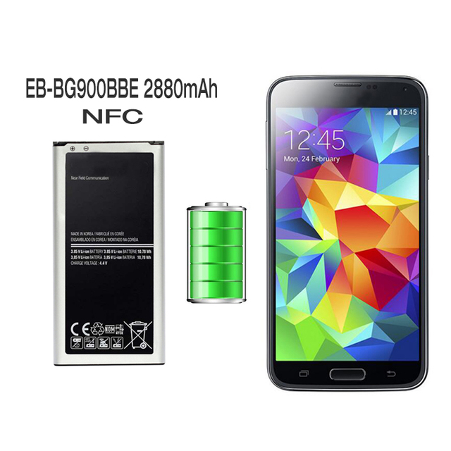 Hot sale great quality Replacement Battery For Samsung Galaxy S5 SM-G900H SM-G900F SM-G900I SM-G900W8 EB-BG900BBE NFC 2800mAh