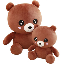 Cute Baby Bears Plush Toys Stuffed Animals Fluffy Brown Bear Dolls Soft Toy Kids Lovers Girlfriend Birthday Gift