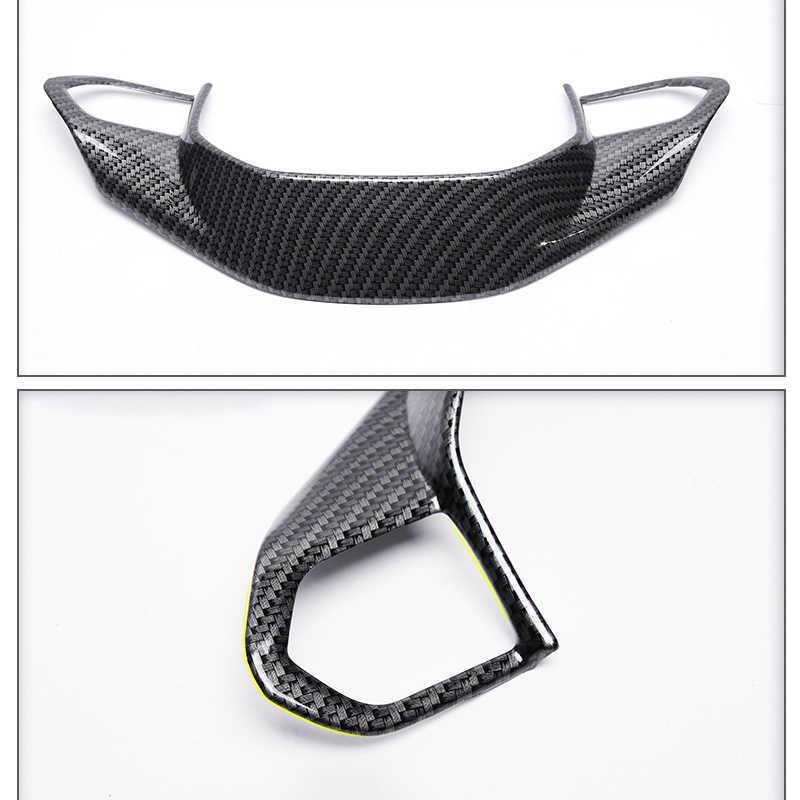 ABS רכב סטיילינג הגה פאייטים מדבקת קישוט לקצץ כיסוי 3D מדבקות עבור פיג 'ו 3008 GT 2017 2018 2019 אביזרים