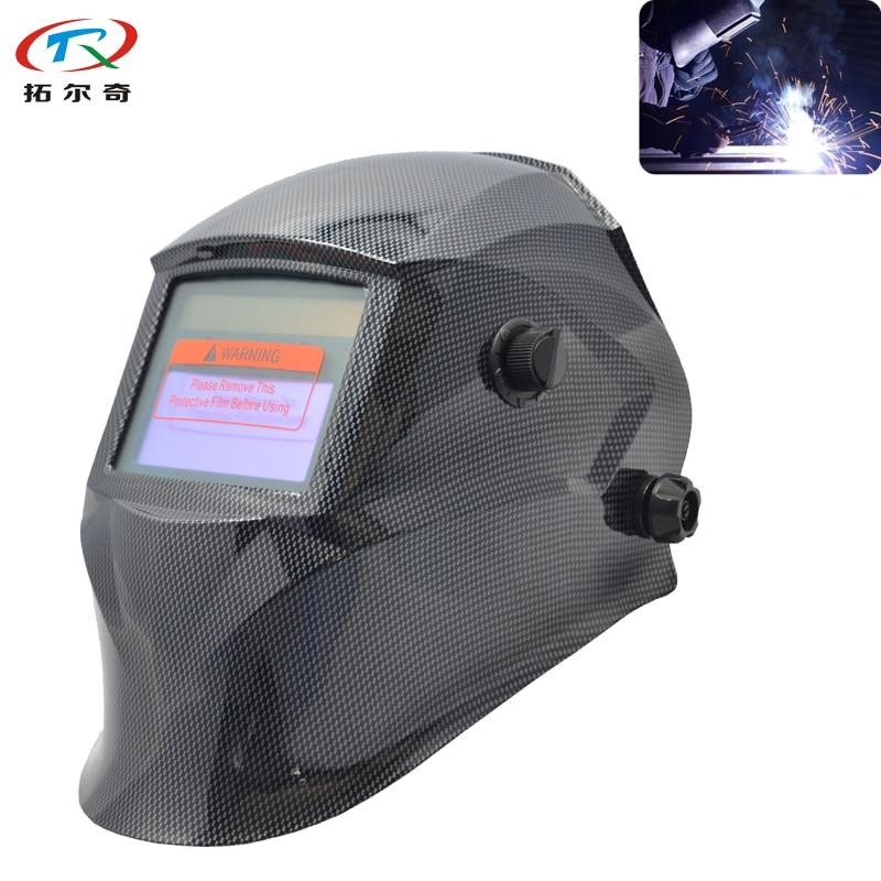 Chameleon Filter Lens CE Approved Welding Cap Mig Welder Mask Electric Mask Big View Fast Shipping TRQ-JD07-2233DE