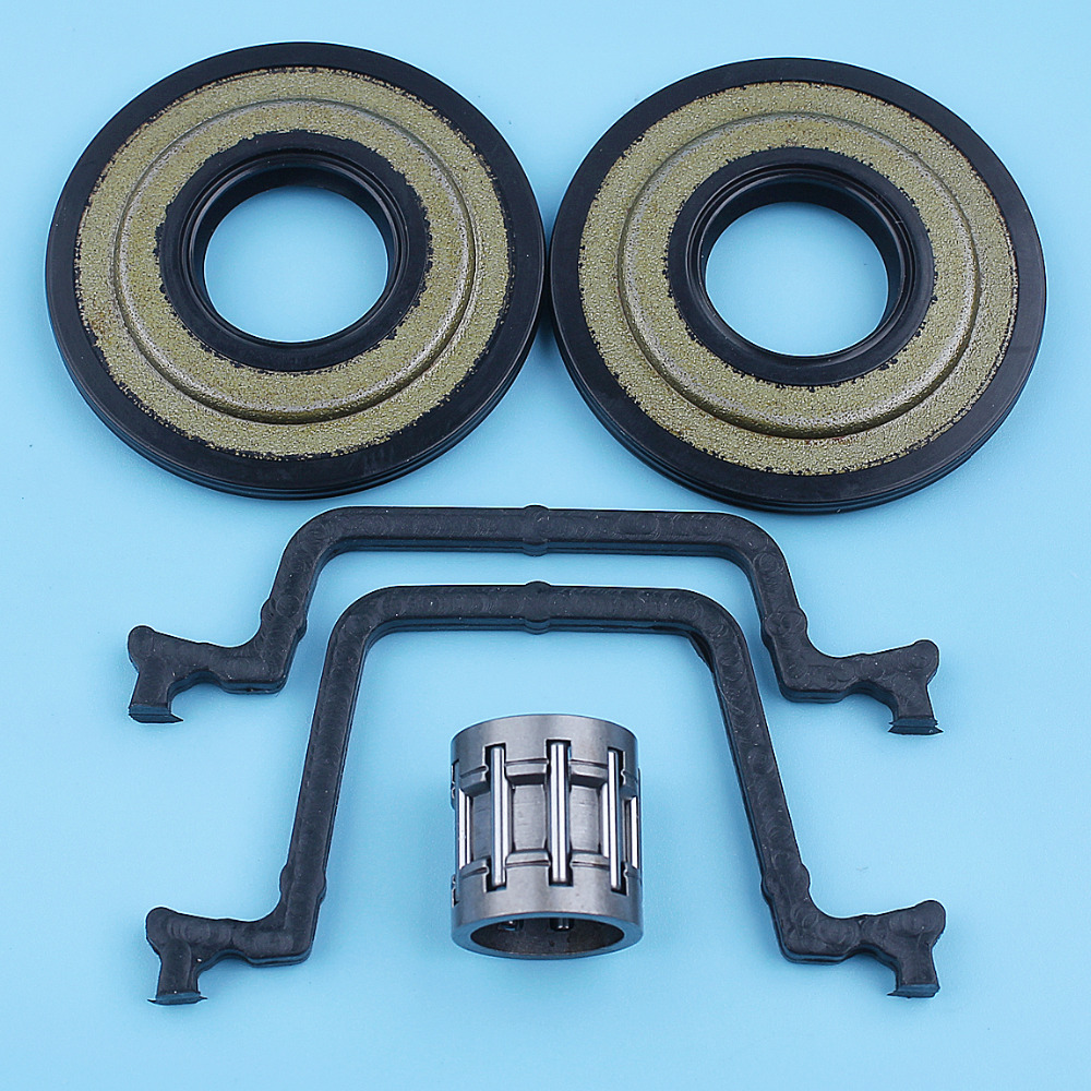 Crank Oil Seal Cylinder Gaskets Needle Bearing Kit For Husqvarna 450 Rancher 445e 445 450e II Chainsaw 544108701 544109201