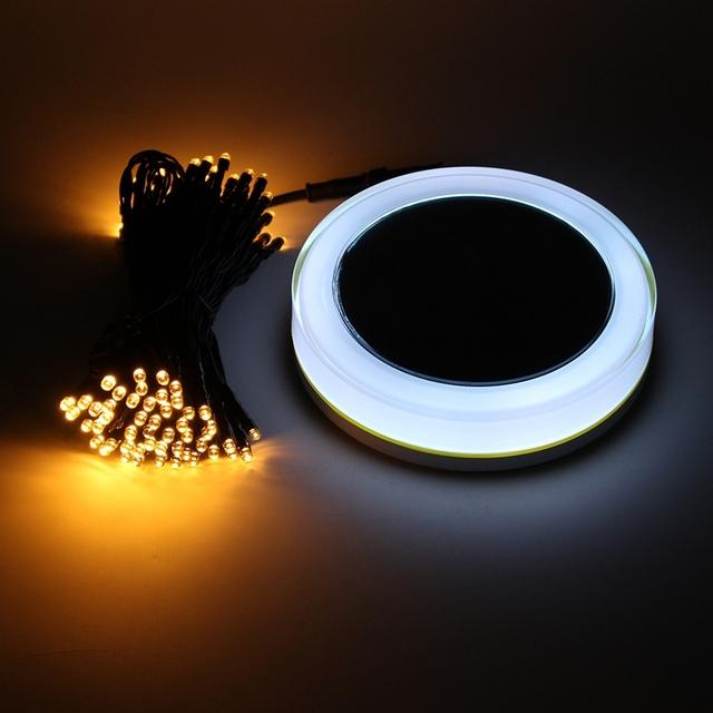 10 M RGB LLEVÓ la Luz de Hadas de la Energía Solar Lámpara de la Secuencia del LED de Iluminación Al Aire Libre Luz Impermeable Con Control Remoto de Navidad Decoración