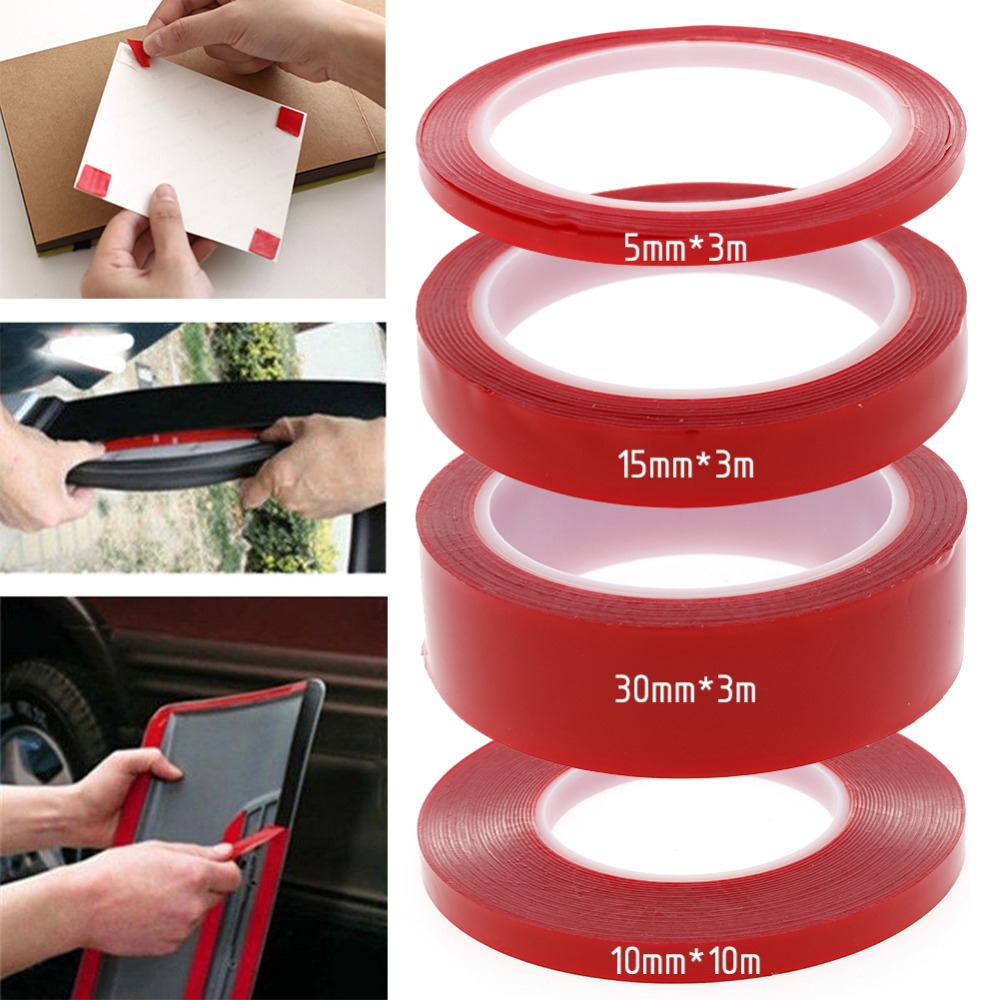 Double-sided Length 3/10 M Width 5/10/15/30 MM Strong Clear Transparent Acrylic Foam Adhesive Tape #261511