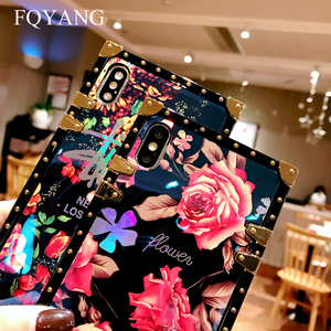 Image 5 - FQYANG Luxury Square Blu Ray Rose Phone Case For SAMSUNG S10 PLUS S8 S9 S10LITE Flower Cases For SAMSUNG NOTE 9 8 With Lanyard