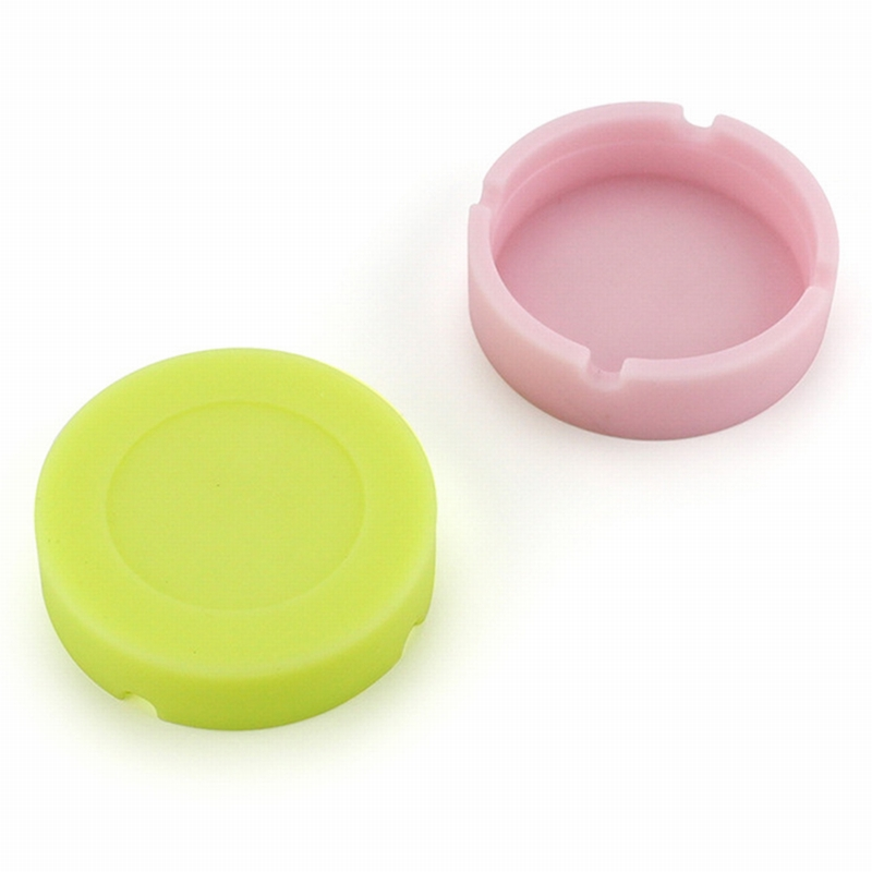 Image 5 - Silicone Soft Round Ashtray Ash Tray Holder PLuminous Portable Anti scalding Cigarette Holder Multicolor Eco Friendly-in Ashtrays from Home & Garden