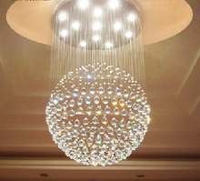 Diameter of 30 to 50 centimeters high crystal droplight stair dining-room sitting room bedroom ball chandelier lamp LED lamps