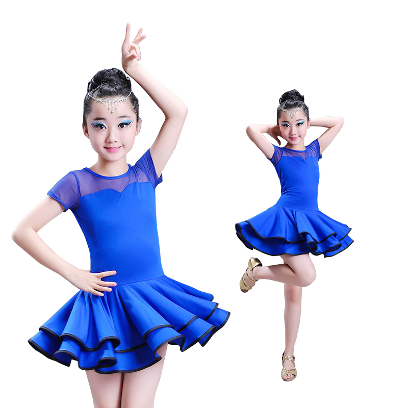 ballroom 2018 children spandex samba skirt tango competition clothes latin dresses dance dress for girls salsa dress kids rumba