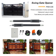 GALO gate opener dual automatic swing gate opener (photocell sensor ,4pcs remote controls ,RTU5024 and warning lamp Optional ) galo ip55 waterproof double arm swing gate opener for home enterprises automatic enter car open door