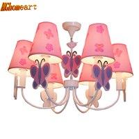 Led Home Lighting Lamp Butterfly Modern Chandelier Kids Room Cartoon LED Chandeliers For The Bedroom E14