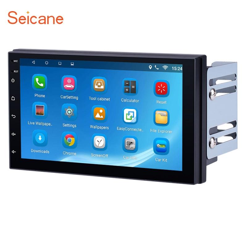 Seicane Android 6 1 Quad core 1024 600 Bluetooth 7 inch 2 DIN font b Car