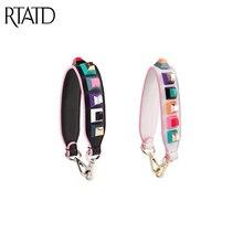 RTATD Genuine Leather Short Women Handbags Strap Chic Rivet Design Belts For Lady Bags Classic Brand Bag Belts J009