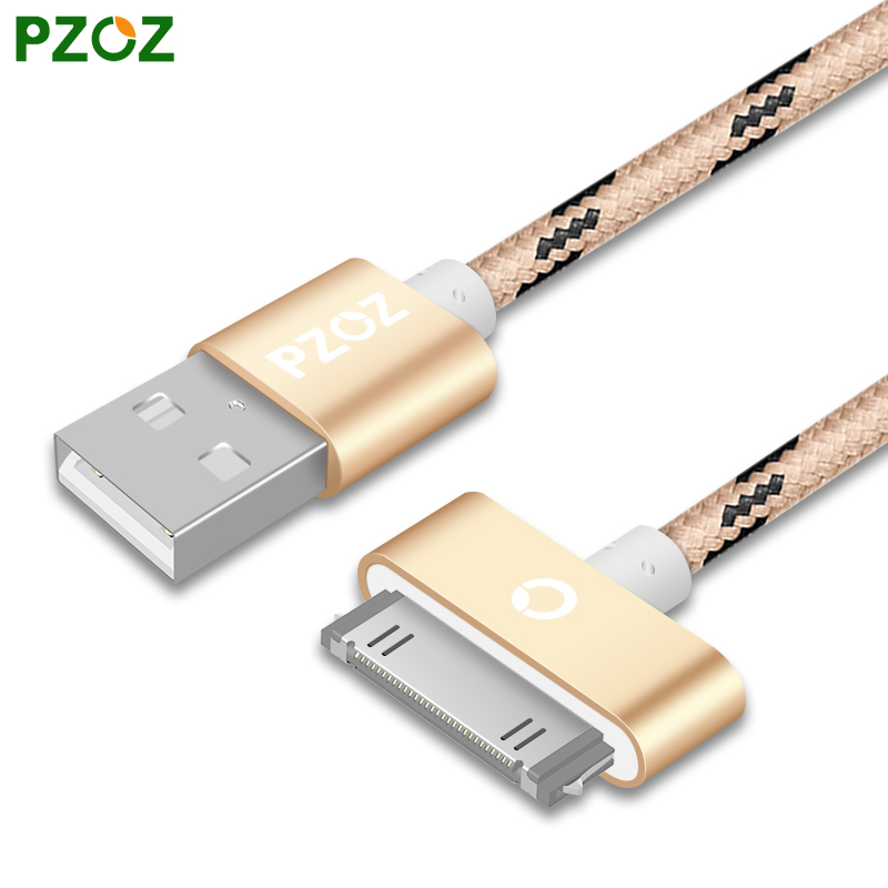 PZOZ For iphone 4 Cable 30 pin Charger Adapter Original USB Cabel Fast Charger For iphone 4s 4 s 3GS iPad iPod Nano / Touch