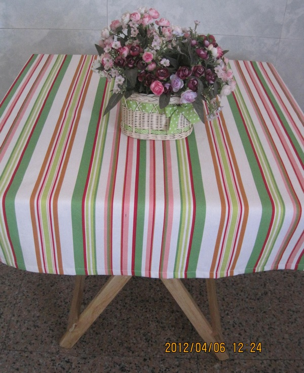 Superieur Pastoral Style Of Sakura Canvas Table Cloth Pink And Green Striped Cotton Table  Cloth Many Sizes In Tablecloths From Home U0026 Garden On Aliexpress.com ...