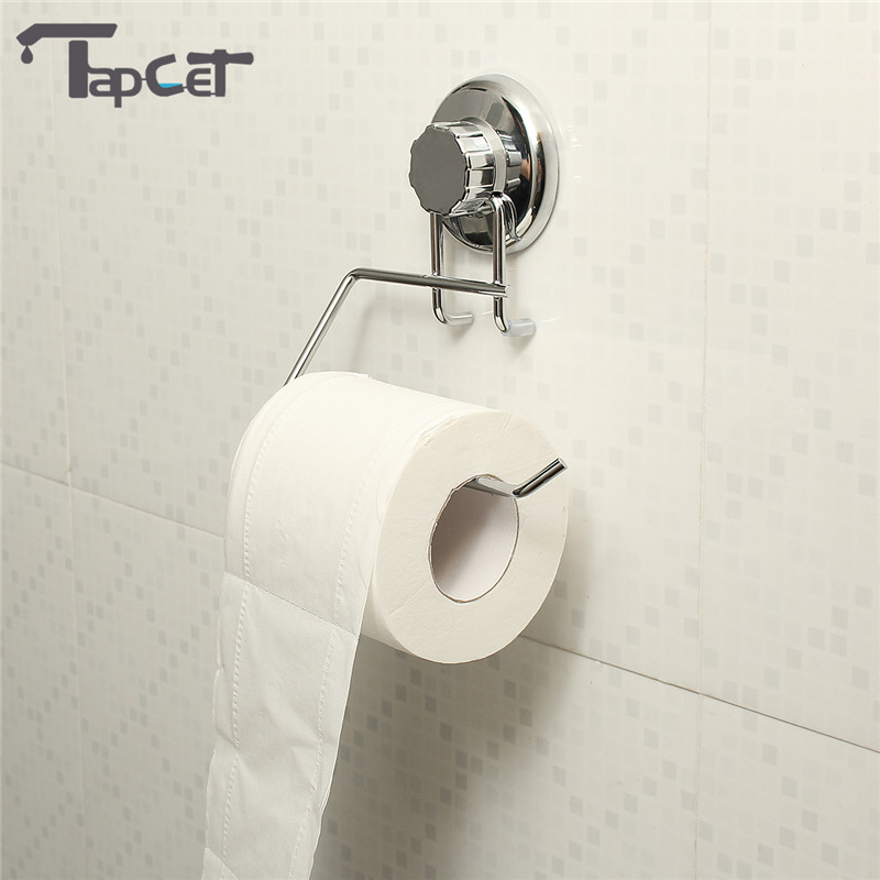 TAPCET Sucker <font><b>Stainless</b></font> <font><b>Steel</b></font> Paper <font><b>Holders</b></font> Vacuum <font><b>Suction</b></font> <font><b>Cup</b></font> Bathroom Toilet Paper <font><b>Holder</b></font> Roll Paper Tissue <font><b>Holder</b></font> <font><b>Towel</b></font> Racks