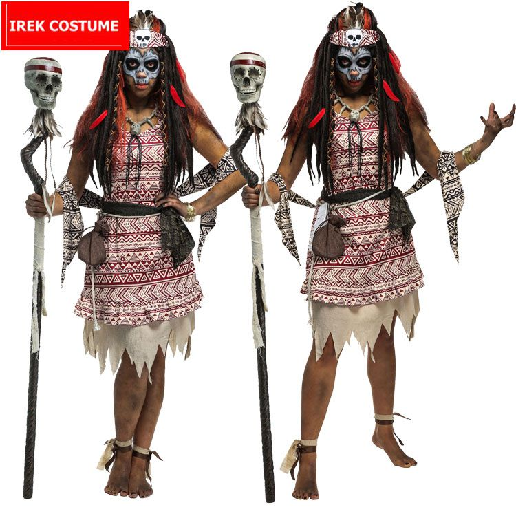 New Halloween Costume Carnaval Easter Adult Female Indian African ...