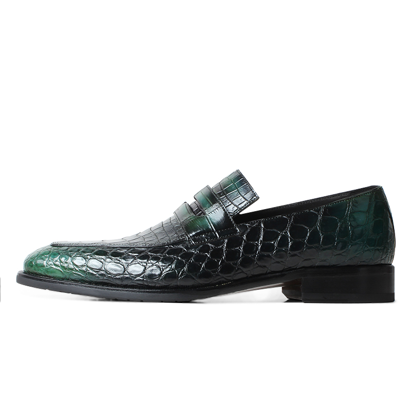 VIKEDUO 2019 New Crocodile Skin Men 39 s Shoes Patina Luxury Brand Loafer Shoes Driving Leather Footwear Male Slip On Zapato Hombre in Men 39 s Casual Shoes from Shoes