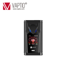 Electronic cigarette mod 220W VAPTIO SUPER BAT Box MOD support 18650x2 batteries fit 510 thread Vape Box Mod FOR TFV12/tfv8 tank