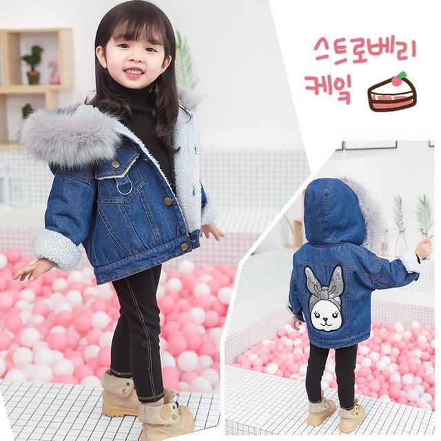 fa376e189 maomaoleyenda Girls Jean Jacket Winter Fashion Kids Coat Girl ...