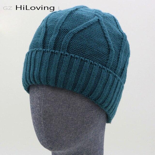 2016 Gaya Baru Keren Mens Perempuan Crochet Beanies Autumn Musim Dingin Topi  Hangat Topi Wanita Musim be099c463d