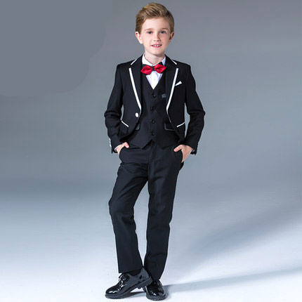 Fashion high quality  baby kids boys children blazers suits boys suits for weddings formal black wedding suit flower boy dress high quality 2016 new arrival fashion baby boys kids blazers boy suit for weddings prom formal dark blue dress wedding boy suits