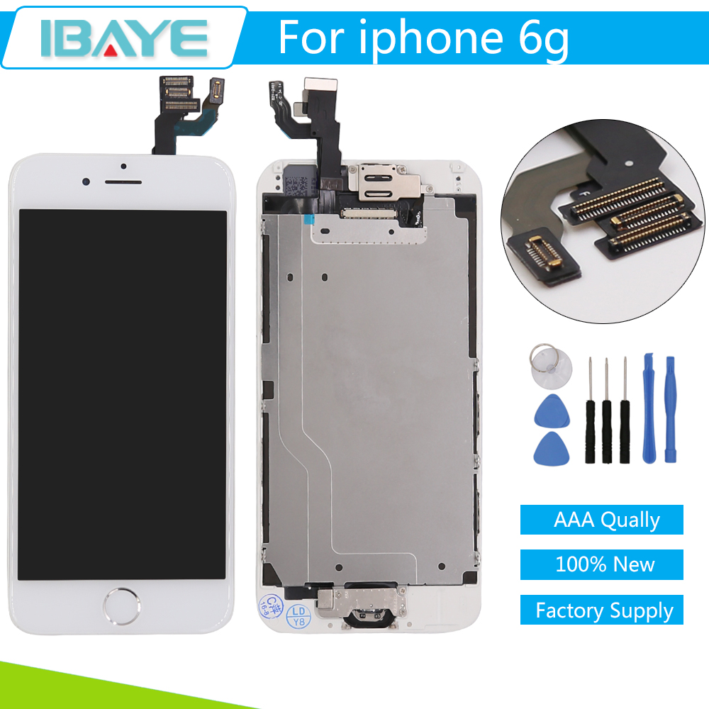 san francisco 65530 5274a US $28.99 |Complete LCD For iPhone 6 LCD Display Touch Digitizer Screen  +Front Camera + Home Button Replacement Assembly White-in Mobile Phone LCDs  ...